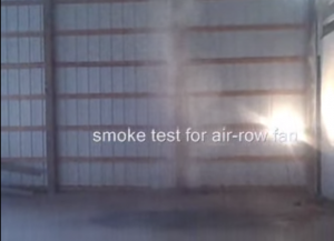 Smoke Test on Destratification Fans